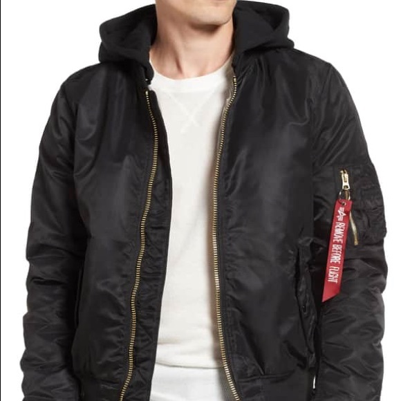 d4af6ce7fd4cb Alpha Industries Other - Alpha Industries MA-1 Natus Hooded Bomber Jacket